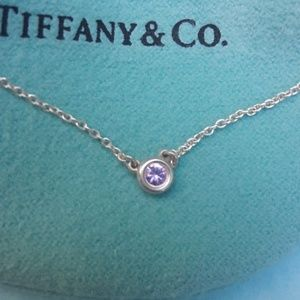 Tiffany & Co Pink sapphire necklace